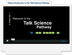 Screenshot from the talkscience intro in pathway